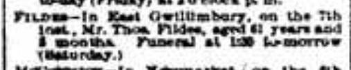 Thomas Fildes obit